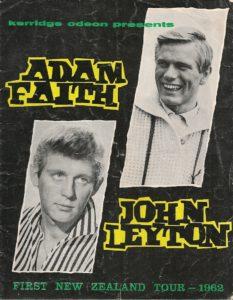 First New Zealand Tour – Adam Faith – John Leyton