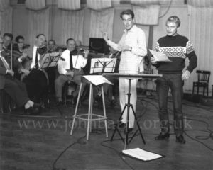 John Barry and Adam Faith rehearse