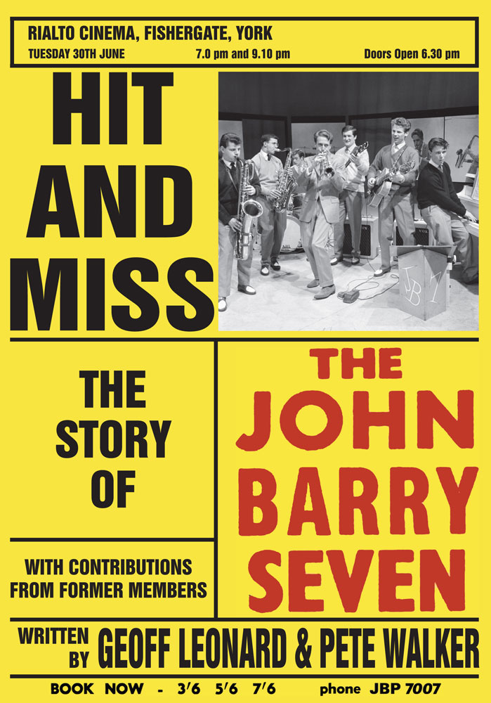 "Our book ""Hit and Miss: The Story of The John Barry Seven"" is now available!  £19.99"